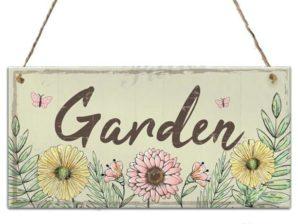 Puutarhakyltti, Garden