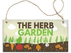 Puutarhakyltti, The Herb Garden