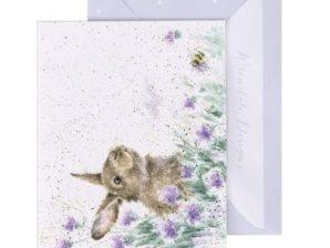 Jänis niityllä -minikortti