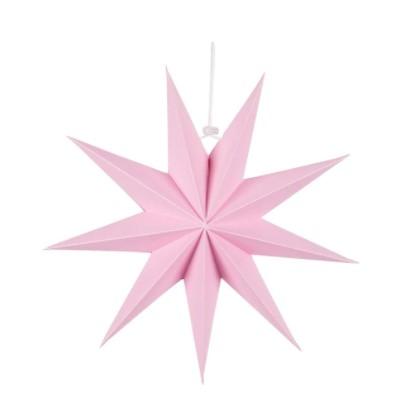 Paperitähti, vaaleanpunainen