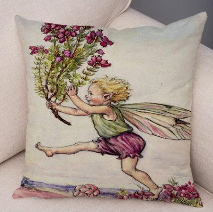 Kukkaiskeiju-tyynyliina
