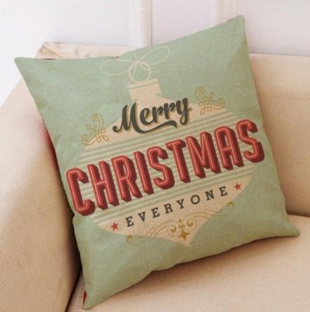 Joulutyynynpäällinen, vintagetyylinen