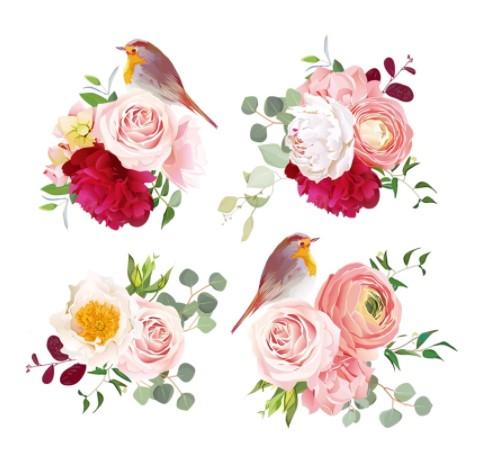 Silityskuva-arkki, (punarinta ja kukat)