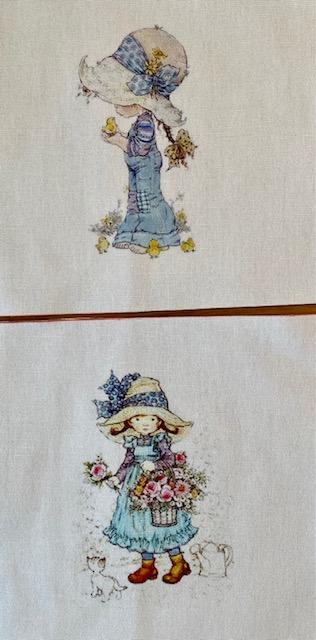 Kukkaislapsi-tilkut (Sarah Kay -tyyliset), 7 kpl