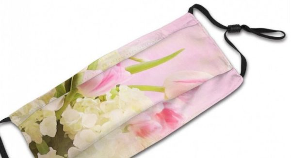 Kasvomaski, hempeät kukat