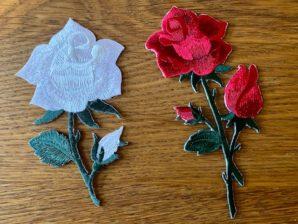 Applikointikuvio, ruusut, silitettävä