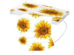 Kasvomaski, auringonkukat