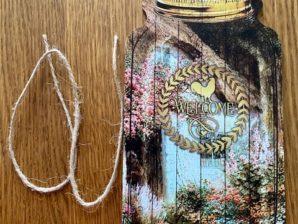 """Puutarhakyltti, """"Welcome"""", cottage garden"""
