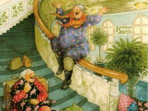 Postikortti numero 61, Mummot portaissa - Inge Löök