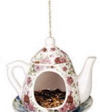 Lintujen teepannuautomaatti, pinkit ruusut - Esschert Design