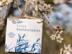 Veera Suolasaippua® - Kosteuttava, hellävarainen, hoitava ja luonnollinen saippua päivittäiseen pesuun. Vegaaninen, luomu - Saaren Taika