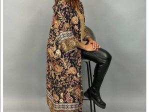 Kimono, GABBI, paisley-kuviolla, musta