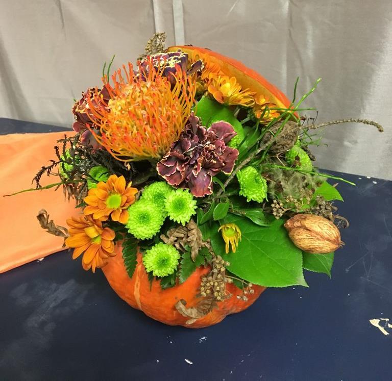 Halloween kukkakurpitsa