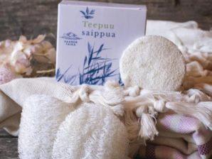 Luffasieni kasvojen päivittäiseen puhdistukseen - Luonnollinen, ympäristöystävällinen, vegaaninen, valmistettu kurkusta - Saaren Taika