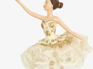 Ballerina, kermanvärinen, kruunulla