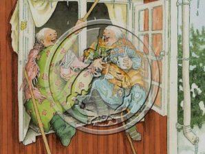 Postikortti numero 73, Mummot ikkunassa - Inge Löök